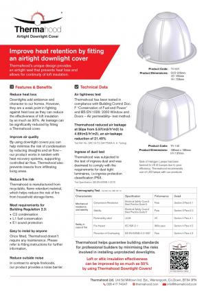 Information sheet for downlight covers