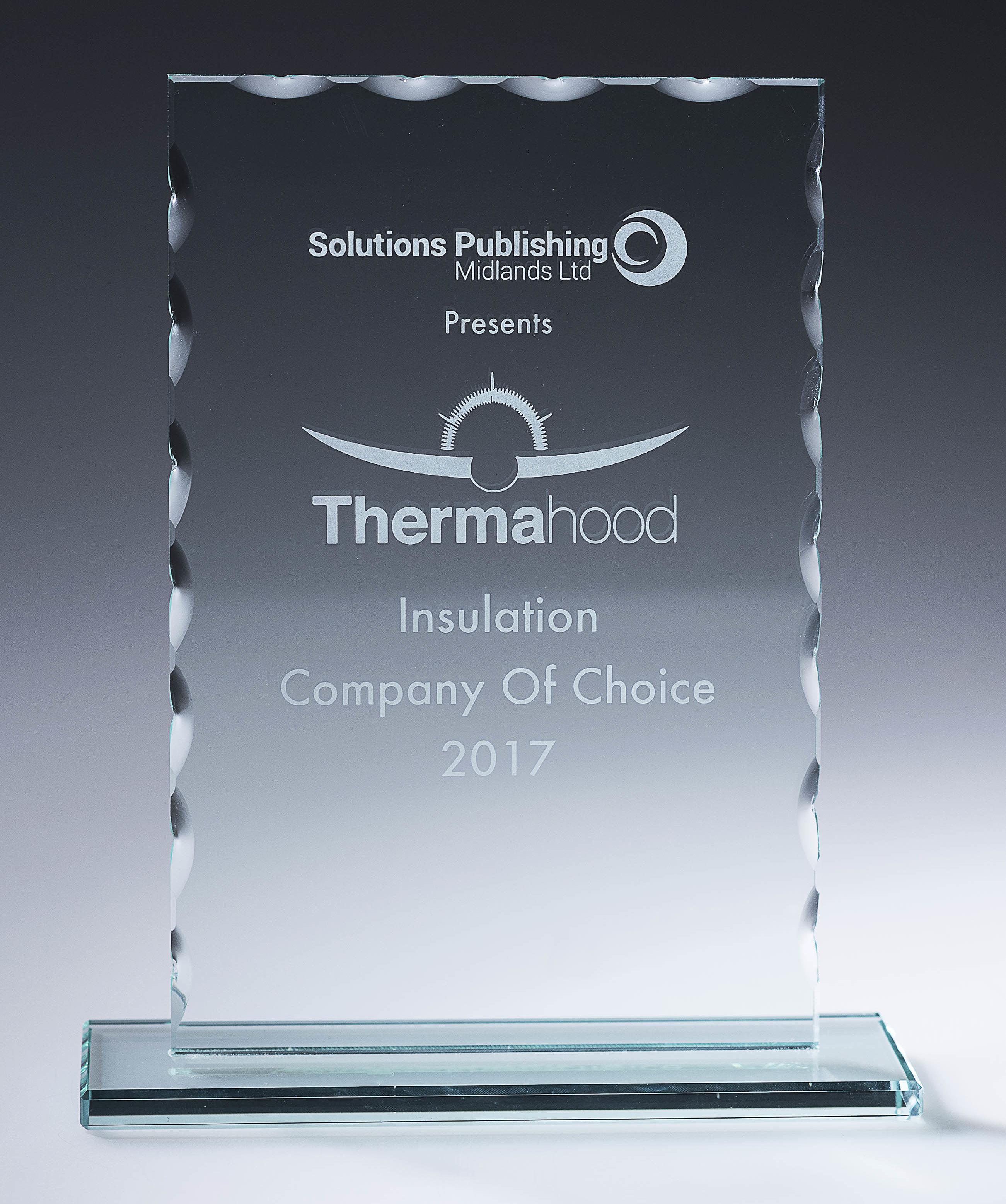 Awards - Insulation company of choice 2017